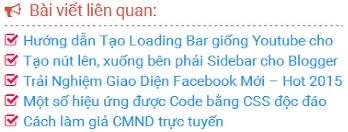 Code tạo bài viết liên quan cho blogspot dạng đơn giản