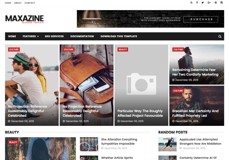 Maxazine Blogger Template best quality blogger template for build online e-magazine blogs. New high quality blogspot theme Maxazine Blogger Template. Free download from top best blogger template directory.