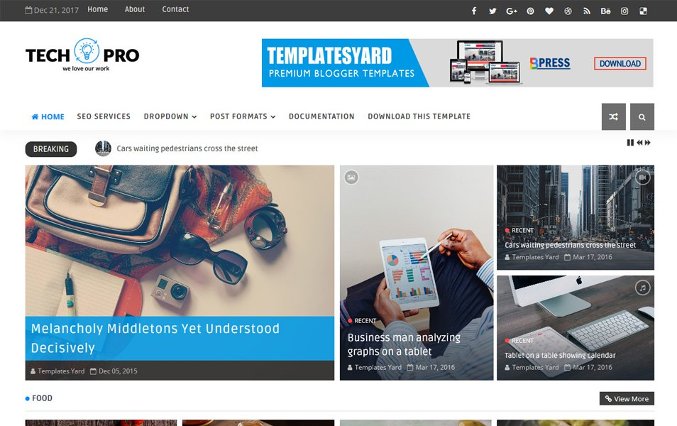 Tech Pro Responsive Blogger Template