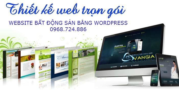 thiet ke website bat dong san tron goi bang wordpress