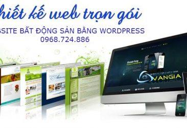 thiet ke website bat dong san tron goi bang wordpress