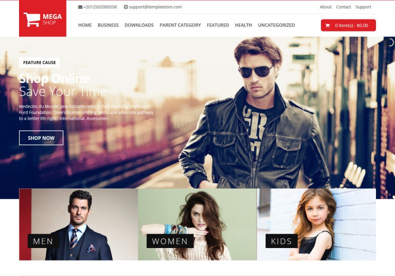 Mega Shop Blogger Template