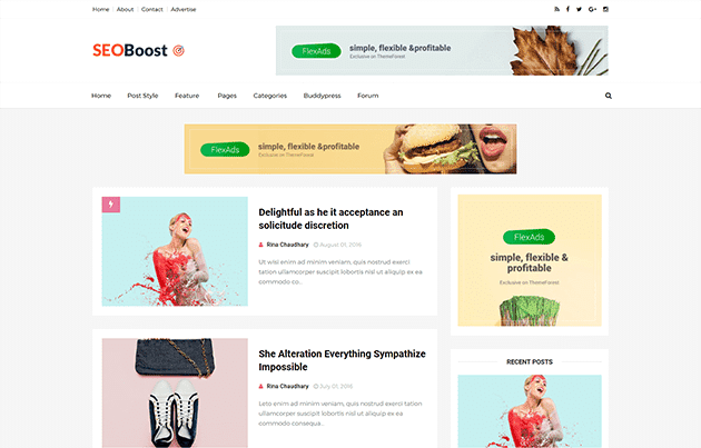 1. SeoBoost Best SEO Optimized Blogger Template