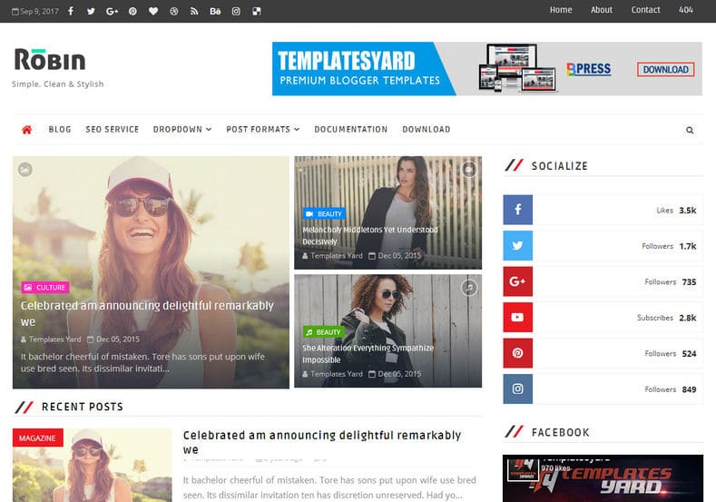 Robin Blog Blogger Template is a multipurpose responsive fast loading blogger theme for tech blogs, review blogs, howTo, magazine, newspapers