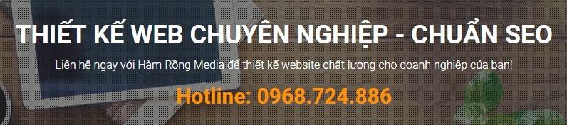 thiết kế web giá rẻ, uy tín, chuyên nghiệp - Hamrongmedia