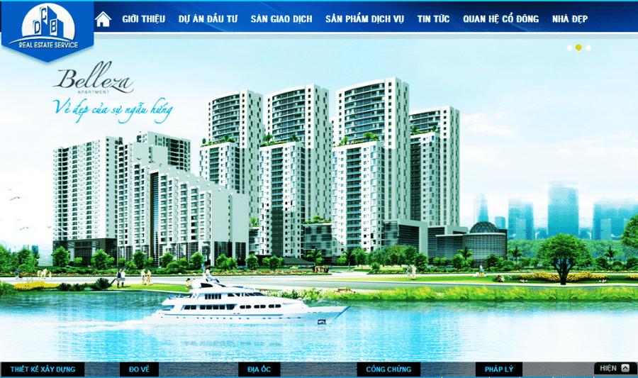 Sử dụng slide toàn màn hình để thiết kế website bất động sản cuốn hút hơn