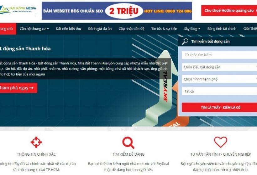 Thiết kế website giá rẻ tại Thanh Hóa chuyên nghiệp Web-bat-dong-san-nha-dat-m33-1024x624-1-820x560