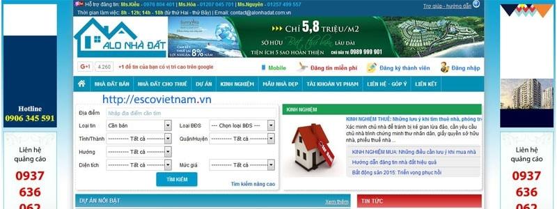 10 trang web đăng tin bất động sản, nhà đất uy tín, miễn phí, hiệu quả