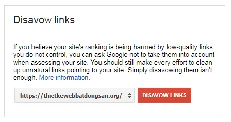 Cách disavow link xấu thoát khỏi Google Penguin